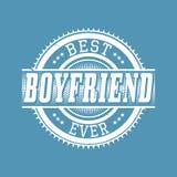 Migliore tipografia della maglietta del ragazzo mai, illustrazione di vettore Immagine Stock