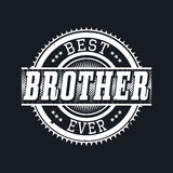 Migliore tipografia della maglietta di Ever del fratello, illustrazione di vettore Immagini Stock