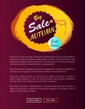 Migliore vendita Choice Autumn Hanging Round Promo Label Immagine Stock