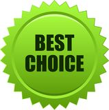 Migliore verde choice del bollo della guarnizione Immagini Stock