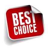 Migliore etichetta choice Immagini Stock