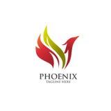 Migliore vettore di logo di Phoenix Immagini Stock Libere da Diritti