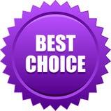 Migliore viola choice del bollo della guarnizione Fotografia Stock