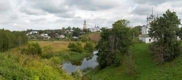 Migliore vista di Suzdal.Russia. Panorama dettagliato di XXXL Fotografie Stock