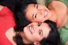 Migliori amici che ripartono il tempo Fotografia Stock