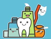 Migliori amici del dente sano Fotografia Stock