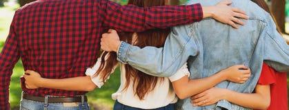 Migliori amici per sempre Felicità, concetto di svago immagini stock
