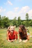 Migliori amici teenager fotografia stock