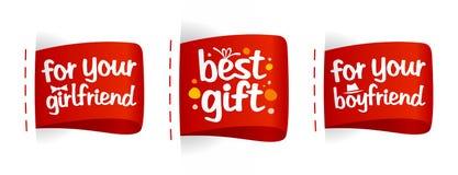 Migliori contrassegni dei regali. Fotografia Stock Libera da Diritti