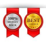 Migliori distintivi dorati del metallo messi Medaglia d'oro rotonda o Immagini Stock