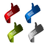 Migliori elementi choice di carta - gesto di mano Fotografia Stock