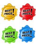 Migliori icone lucide di prezzi Fotografie Stock