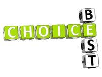 Migliori parole incrociate Choice Fotografie Stock Libere da Diritti