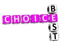 Migliori parole incrociate Choice Immagini Stock Libere da Diritti
