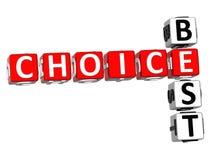 Migliori parole incrociate Choice Immagine Stock