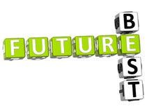Migliori parole incrociate future Fotografia Stock