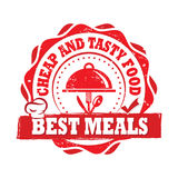 Migliori pasti, a buon mercato ed alimento saporito - stampabile identificati royalty illustrazione gratis