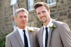 Migliori uomo e sposo At Wedding Fotografia Stock Libera da Diritti