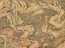 Migmatite岩石平板纹理 免版税库存图片
