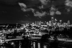 Mignight in Kansas City Royalty Free Stock Image