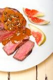 Mignon de faixa verde da carne do grão de pimenta Fotografia de Stock