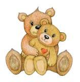 Mignon, se reposant, ours de caresse illustration libre de droits