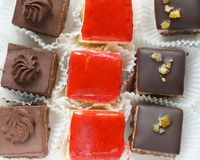 Mignon small sweet cakes Stock Photo
