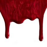 Migotliwy czerwony gwoździa połysk obraz royalty free