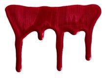 Migotliwy czerwony gwoździa połysk zdjęcie stock