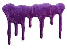Migotliwy purpurowy gwoździa połysk obraz royalty free