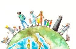 migração ilustração royalty free