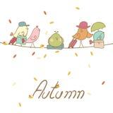 Migración de pájaro del otoño Fotos de archivo libres de regalías