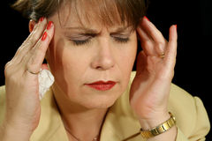 Migraine 1. The throbbing pain of a migraine headache Royalty Free Stock Photography