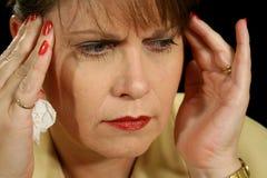 Migraine 2. The throbbing pain of a migraine headache Royalty Free Stock Photos