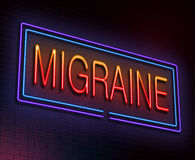 Migraine concept. Royalty Free Stock Photos