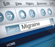 Migraine concept. Stock Photography