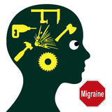 Migraine Concept Stock Photo