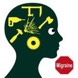 Migraine Concept Stock Photo