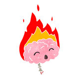 Migraine headache retro cartoon Royalty Free Stock Photography