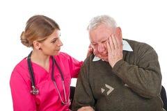 Migraine problems Stock Photo