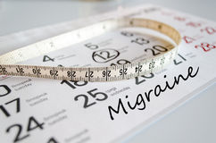 Migraine text concept Stock Photos