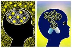 Migraine treatment for kids stock image