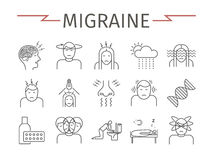Migraines Infographics. Stock Images