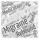Migraines and Rebound Headaches word cloud concept word cloud concept vector background Stock Image
