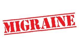 Migrane typograficzny znaczek ilustracja wektor
