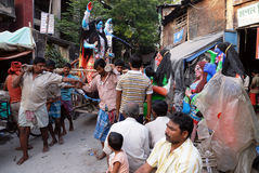 Migrant labour in Kolkata Stock Photos