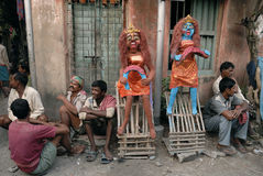 Migrant labour of Kolkata Royalty Free Stock Images