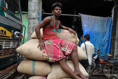 MIGRANT LABOUR IN KOLKATA Stock Photo
