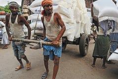 Migrant Labour in Kolkata Stock Photo