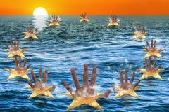 Migrant shipwreck Royalty Free Stock Photo